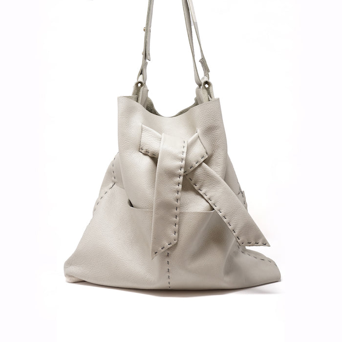 Eiffel hobo/crossbody shoulder bag color cement, zippered pockets