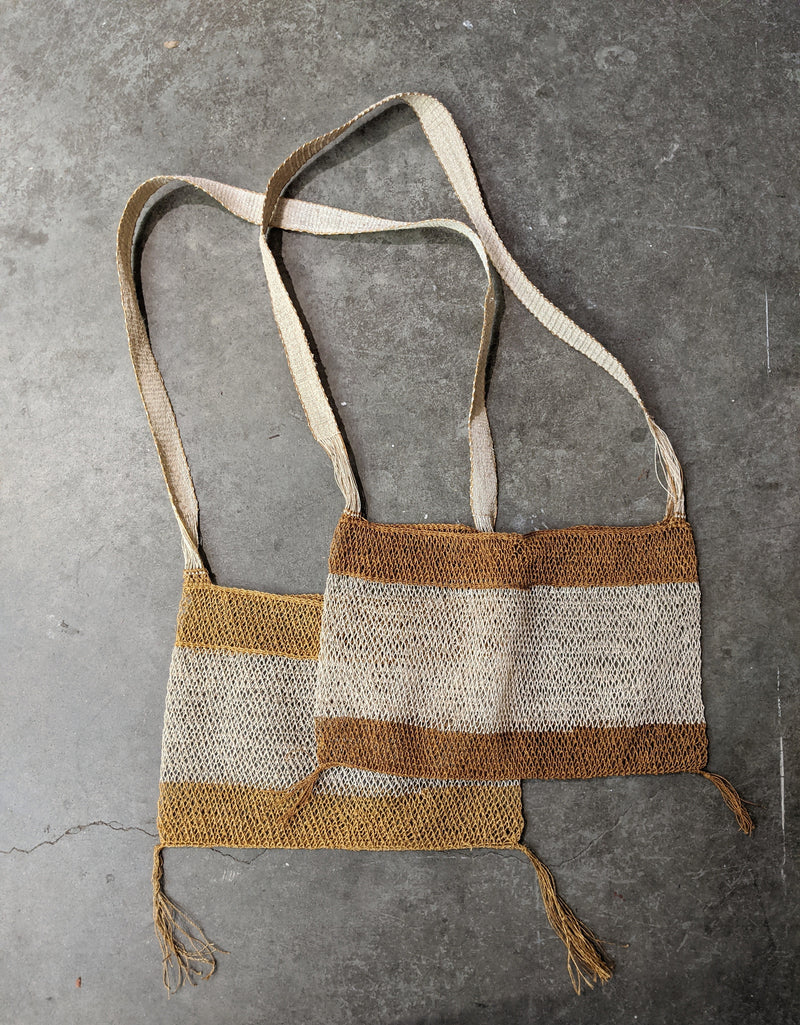 Natural Vine Net Bag - Striped Color