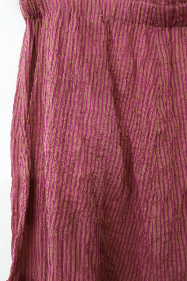 Pink Pinstripe Dropped Crotch Pants