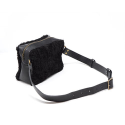 Opera shearling belt bag fanny pack waist bag Stitch and Tickle