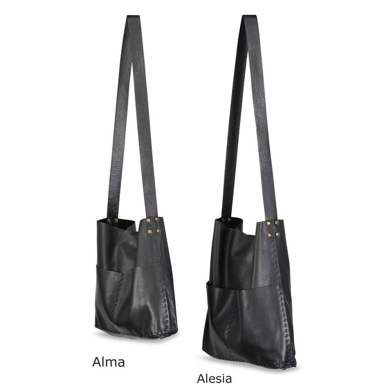 Alma or Alesia - Crossbody Messenger Bag - Black - Price from