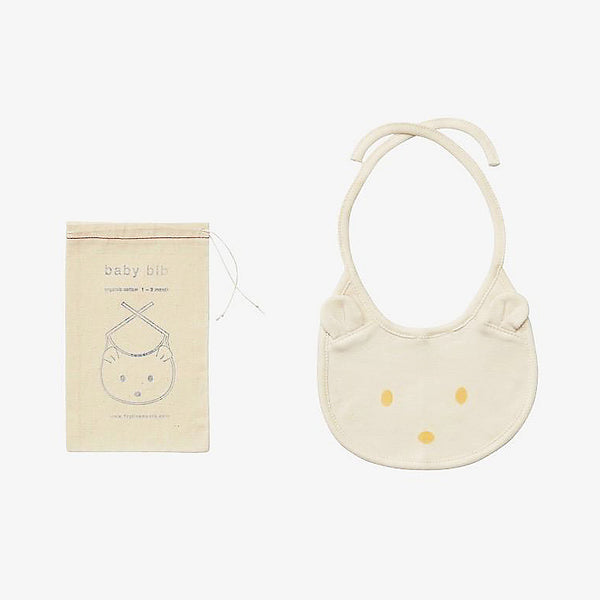 Fog Linen Organic Cotton Baby Bib. Super-soft, organic cotton bib that is perfect for the newborn in your life. Packaged in muslin pouch as shown. 0-3 months100% organic cottonmachine wash gentle/dry cool or line-dry