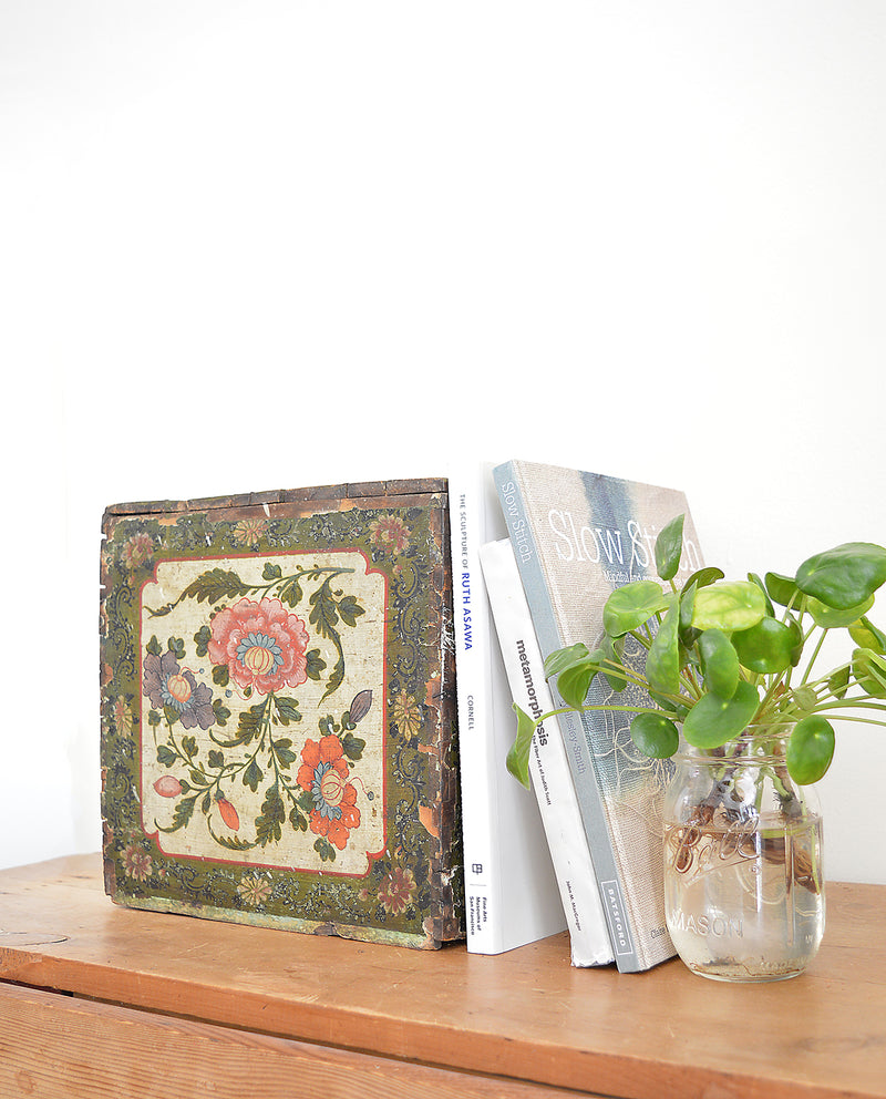 Vintage Painted Wood Box