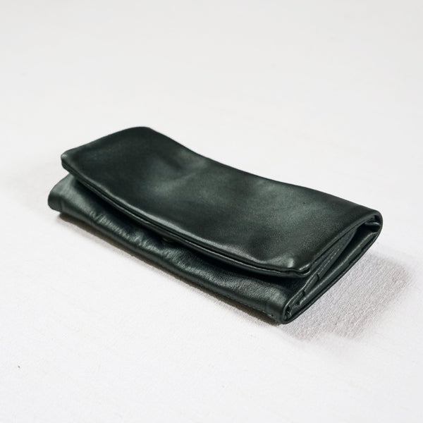 Fold-Over Wallet Soft Leather Metallic Colors