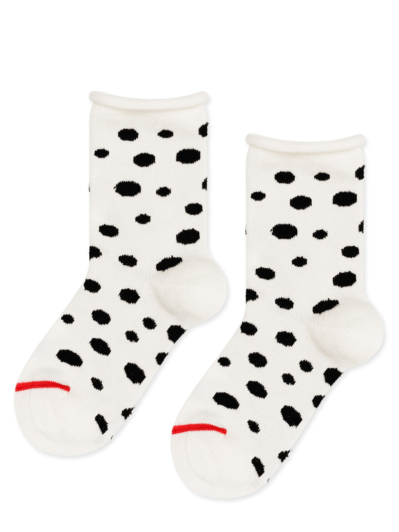 Mini Dalmatian Crew Socks