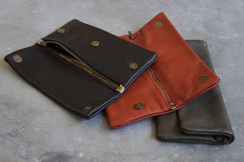 Long Leather Wallet - Italian Leather