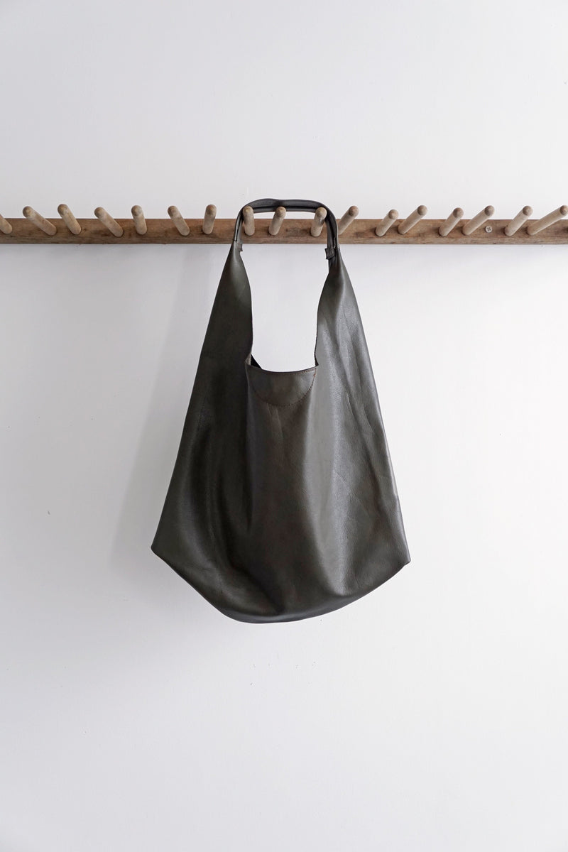 Slouch Bag - Olive Green Italian Leather - 2 sizes - Price from