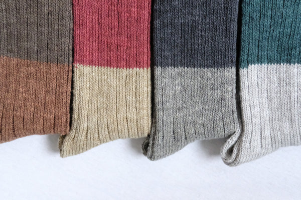 Nishikguchi Kutsushita Japanese Wool Cotton Slub socks for men and women