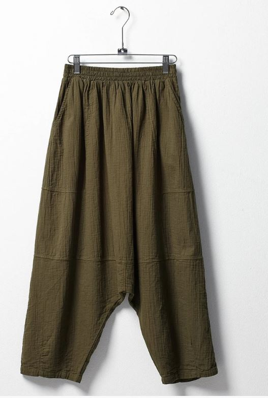 Kiko Harem Gauze Pants - Hunter Green