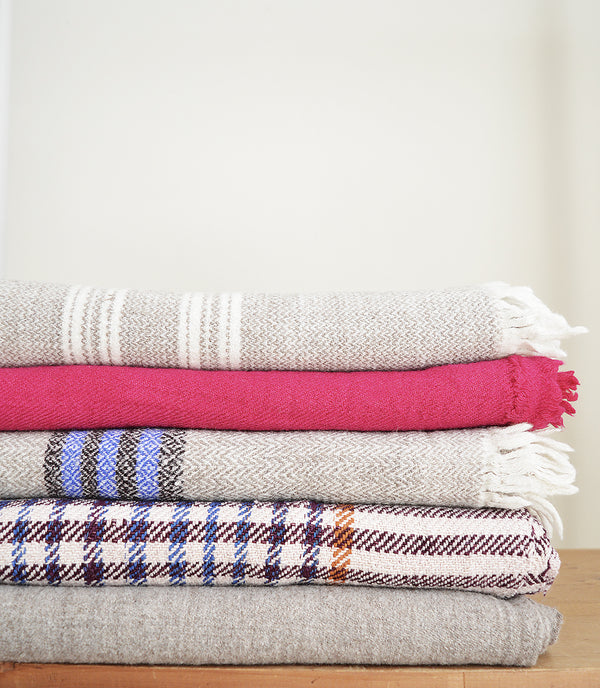 Wool khadi throw