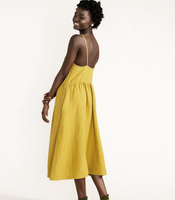 Linen Sundress - Citron