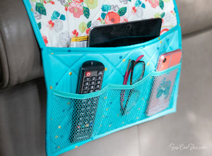 Couch Caddy Remote Control Organizer - free sewing pattern