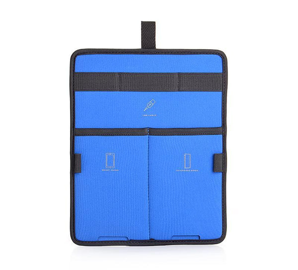 AGVA 10'' Gadget Insert Organizer is a space-saving board with elastic straps and pockets designed to store and organize your tablet, charging cables, power bank, phone, stationery in one slim board. A space-saving gadget board transferable from one laptop backpack to another