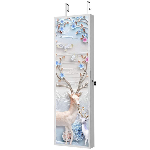 Jewellery Cabinet with Full-Length Mirror and Stunning 3D Magnetic Flower