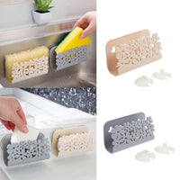 Kitchen Sink Holder Sponge Storage Rack Wash Cloth Organizer Sponge Suction Holder Bathroom Toilet Soap Shelf