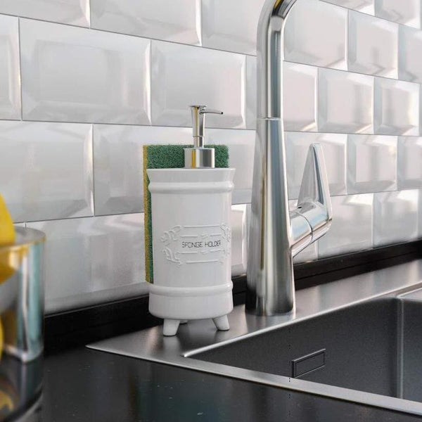 Comfify French Design Kitchen Soap Dispenser & Sponge Holder - Comfify