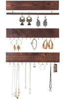 Rustic Jewelry Display Organizer for Wall