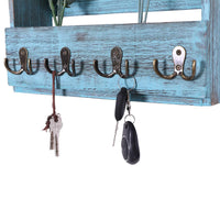 Wooden Wall Mount Mail Holder Organizer