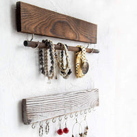 Rustic Jewelry Display Organizer for Wall - Comfify