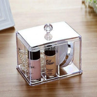 Acrylic Multifunctional 4 Spaces Organizer With Lid