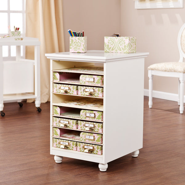 Annie Craft Room Paper Bin Storage Organizer