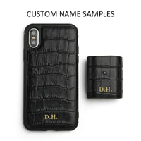 Custom Name Free for Best iPHONE CASE for 11 Pro Max X XS MAX  Italian leather crocodile pattern with gift box