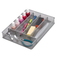 12'' x 9'' Steel Mesh Silverware & Desk Drawer Organizer