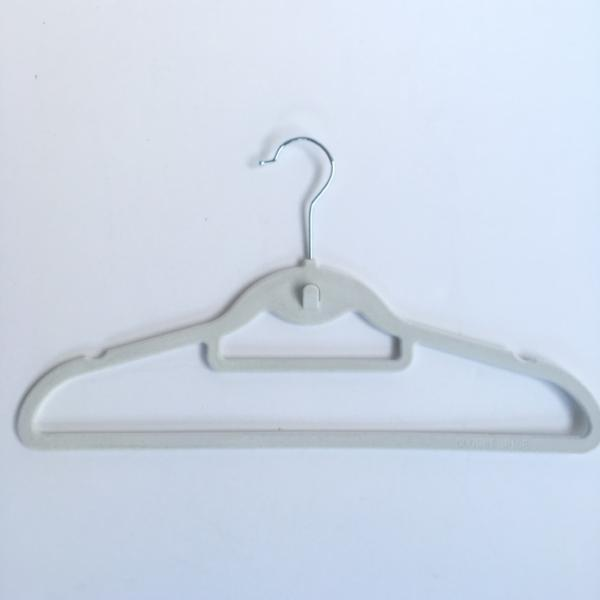 Closet Spice Velvet Hangers with Hook & Tie Bar - Set of 40 (White)
