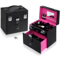 SHANY Color Matters - Nail Accessories Organizer and Makeup Train Case - PURPLE - ITEM# SH-CC0024-PARENT - With the help of our social media fans, we have created the SHANY Color Matters makeup cases. These cases can effectively store your nail polishes, nail tools, lipsticks, loose eye shadow, and many other individu