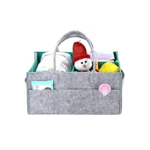 Felt Nappy Organiser - Grey