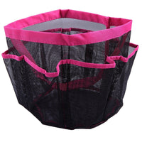 HDE Shower Caddy Mesh Bag College Dorm Bathroom Carry Tote Hanging Organizer 2 Pack (Pink & Blue)