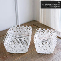 Miz 2 Pieces Home Organizer Storage Basket Heart Shape Storge Box for Home Organization Floral Home Decoration Accessory