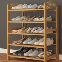 Storage & Organization - Bamboo Wood Shoe Storage & Organizers