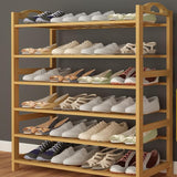 Bamboo Wood Shoe Storage & Organizers