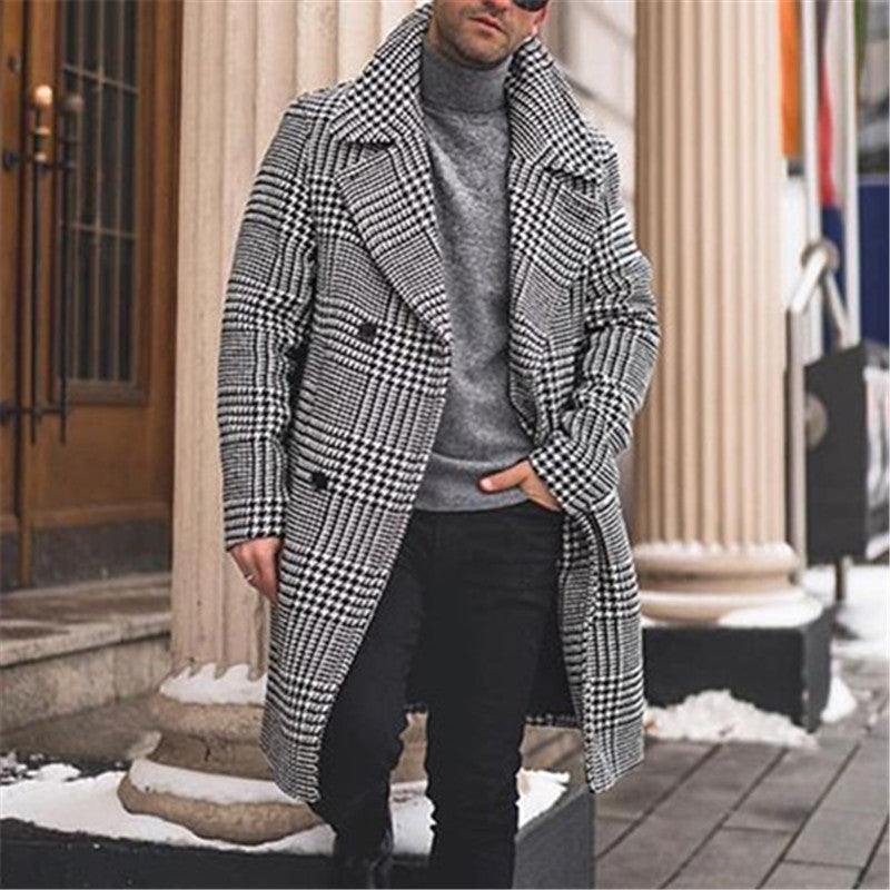 Casual Classic Lapel Plaid Coat - yatacity