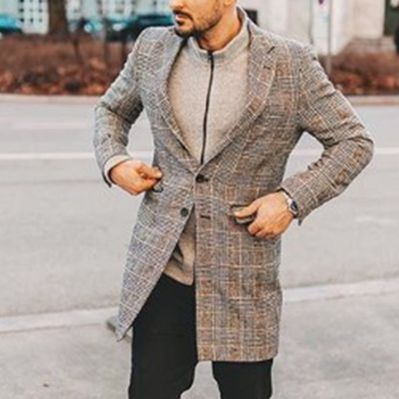 Men's Casual Plaid Blazer - yatacity