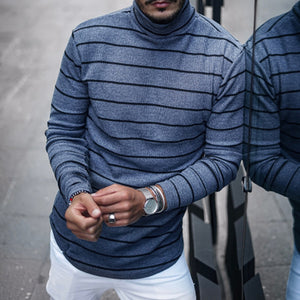 Men's Fashion Striped Long Sleeve T-Shirt - yatacity