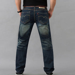 Ripped Light Wash Straight Men's Jeans - yatacity