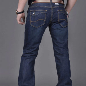 Ripped Plain Straight Mid-Rise Men's Jeans - yatacity