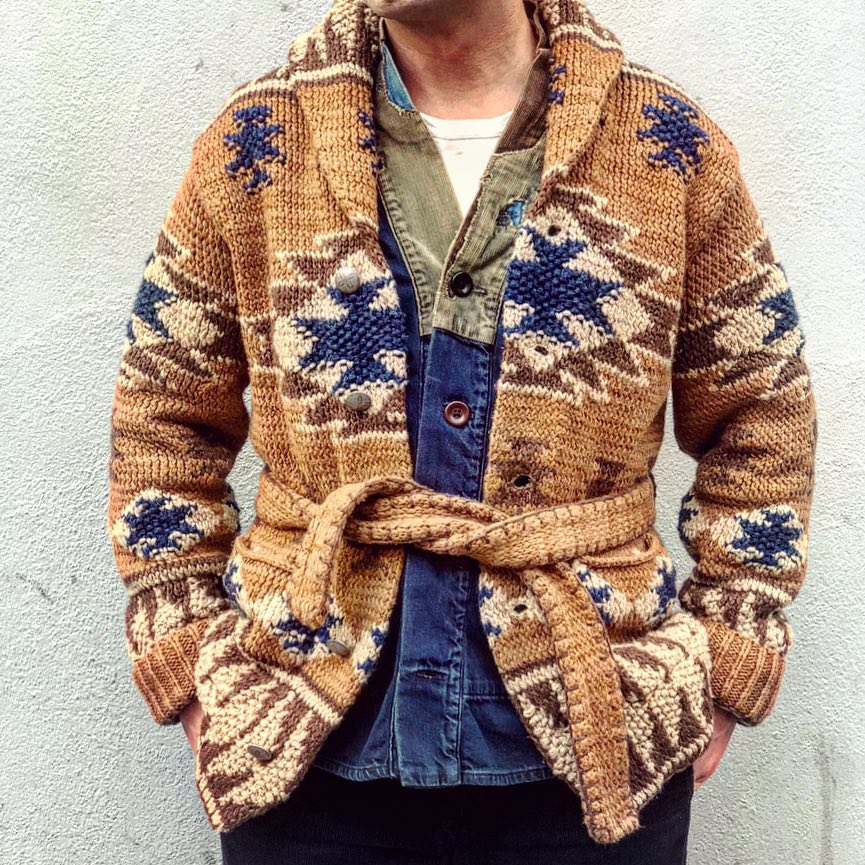 Ethnic wind cardigan sweater - yatacity
