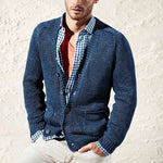 Men's Slim Solid Color Knit Cardigan - yatacity