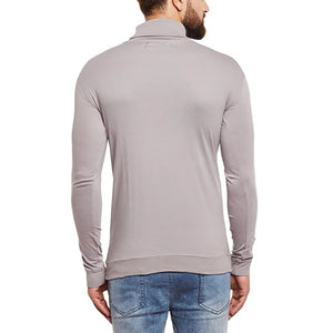 Men's Stitching Turtleneck Slim Long Sleeve T-Shirt - yatacity
