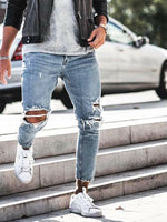 Casual Tight-Fitting Trousers Jeans - yatacity