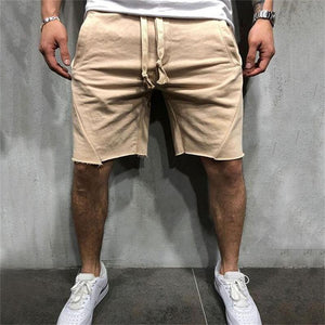 Casual Drawstring Loose Irregularity Short Pants - yatacity