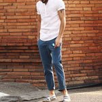 Casual Fastener Ventilate Stand Collar Pure Colour T-Shirt - yatacity