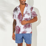 Men's Casual Refreshing Leaves Printed Loose Blouse - yatacity