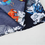 Men's Casual Hawaii Printed Colour Large Size Blouse - yatacity