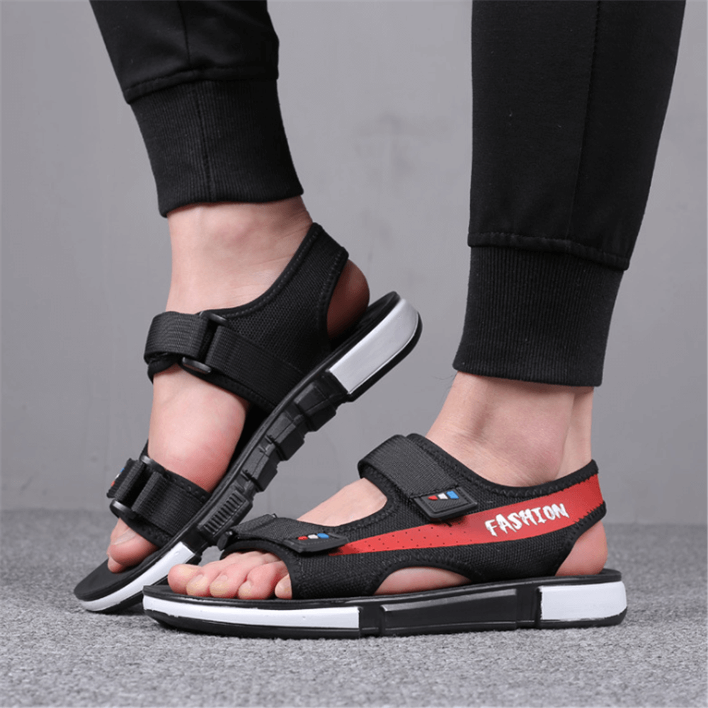 Men's Fashion Versatile   Comfortable Velcro Sandals - yatacity