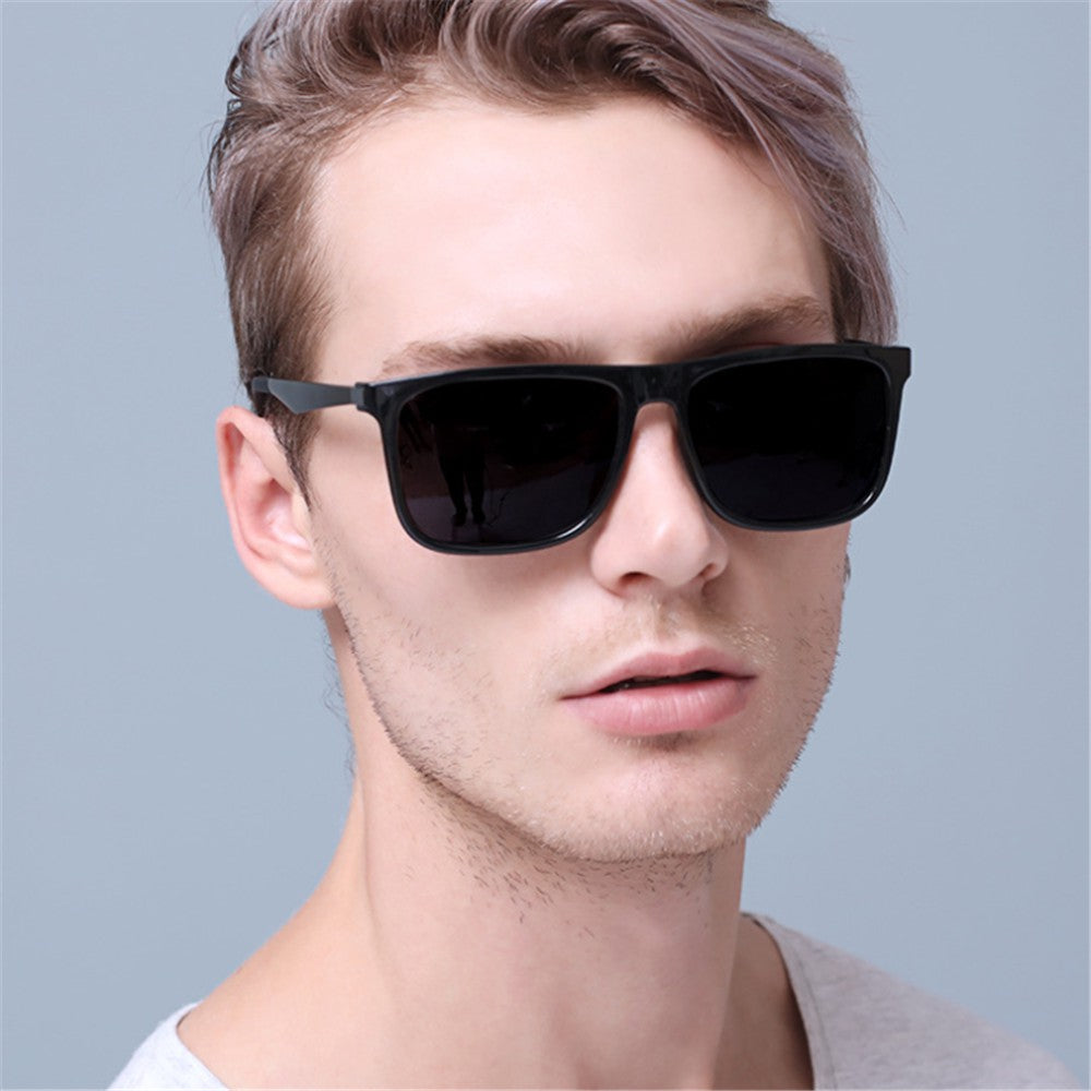 Men's Casual Fashion   Big Box Sunglasses - yatacity