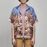 Men's Printed Loose Short-Sleeved Shirt - yatacity